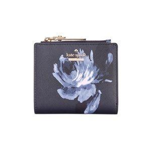 Kate Spade New York cameron street might rose adalyn navy flower bifold wallet